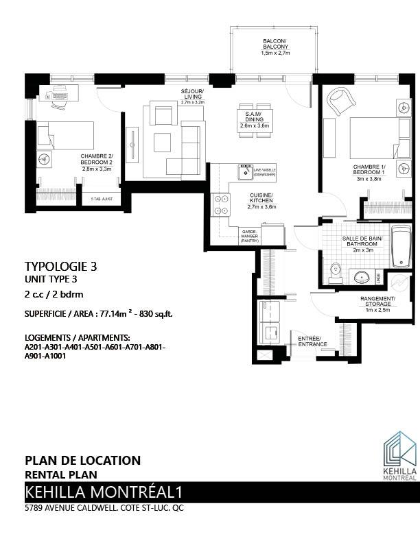 Plans De Location Type 3 Kehilla Montreal