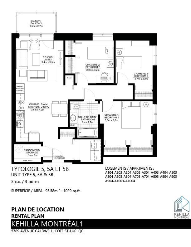 Plans De Location Type 5 Kehilla Montreal